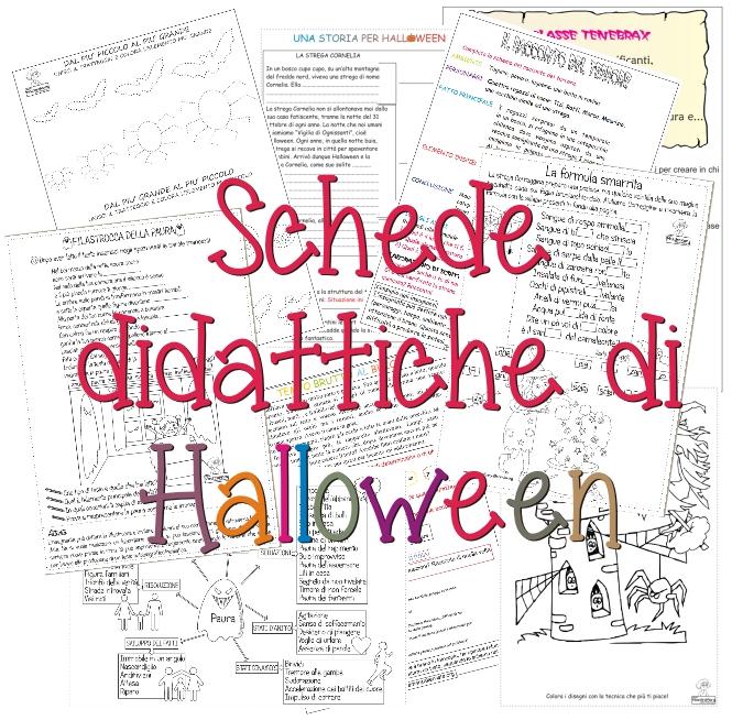 Schede didattiche di Halloween   Maestra Mary