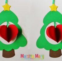 Decorazioni di Natale con alberelli e cuori
