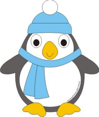 Pinguino Da Ritagliare E Assemblare Maestra Mary