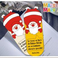 Segnalibri di Babbo Natale