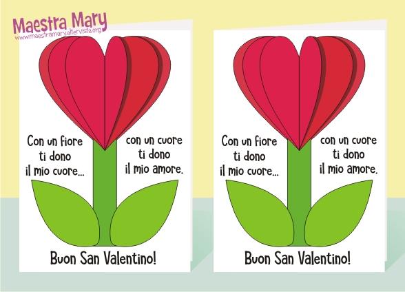 Biglietto Di San Valentino Per Bambini Maestra Mary