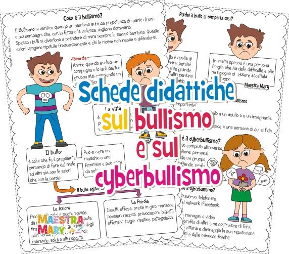 schede bullismo cyberbullismo