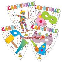 Festone di Carnevale: bandierine