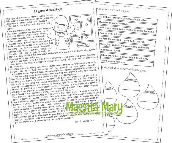 Lacqua Schede Didattiche Maestra Mary