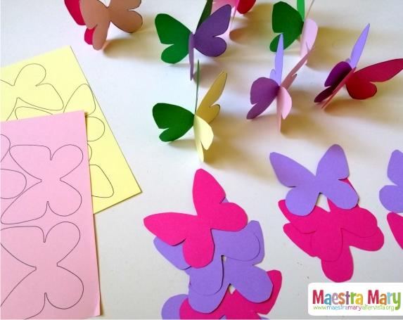 Decorazioni Di Primavera Con Farfalle Colorate Maestra Mary