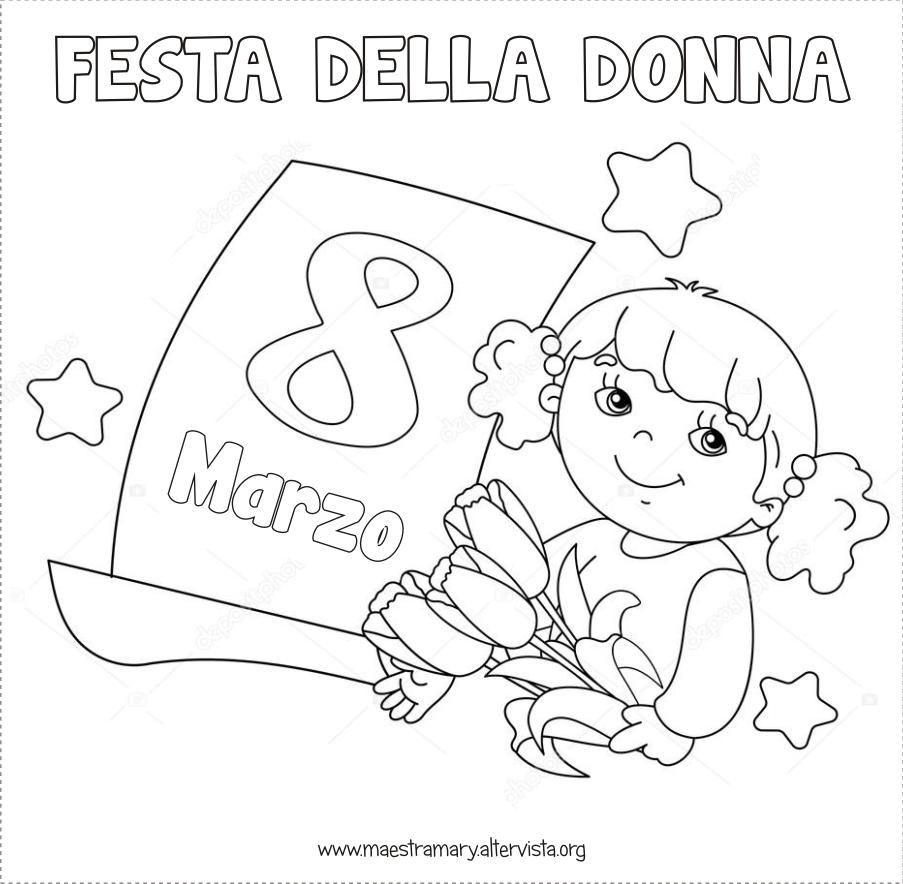 Disegni Festa Della Donna Maestra Mary