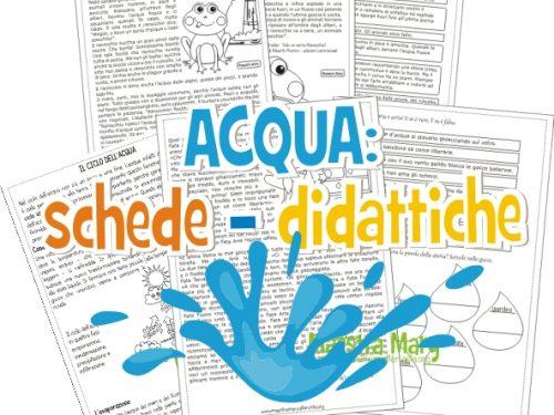 L'Acqua: schede didattiche