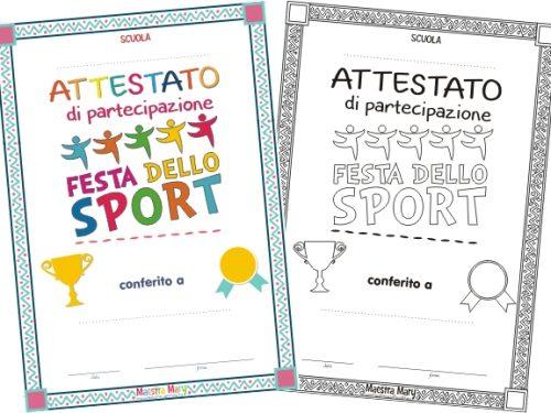 Attestato Festa dello Sport