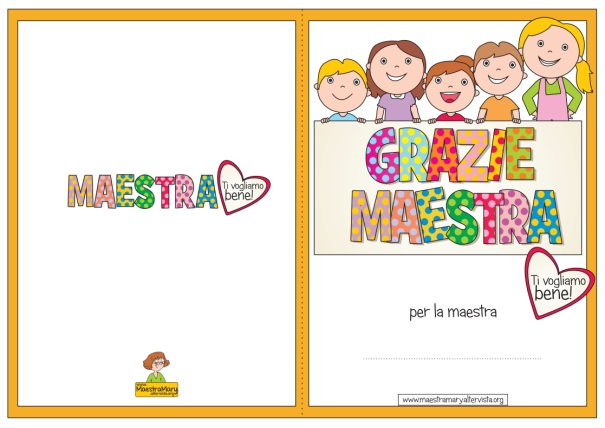 Biglietti di ringraziamento per le maestre e i maestri for Siti maestre scuola infanzia