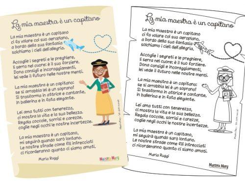 Poesia dedicata alla maestra