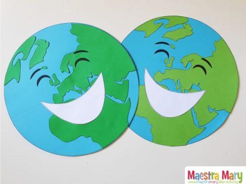 Cartello con il pianeta Terra