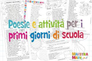 poesie e attività per i primi giorni di scuola