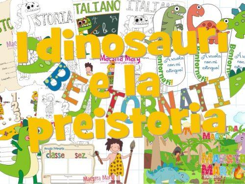 Accoglienza con i dinosauri e la preistoria