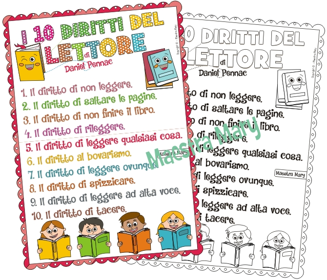 i 10 diritti del lettore