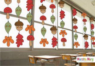 decorazioni autunno scuola