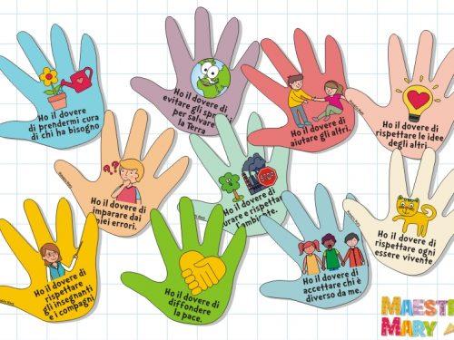 I doveri dei bambini nelle mani