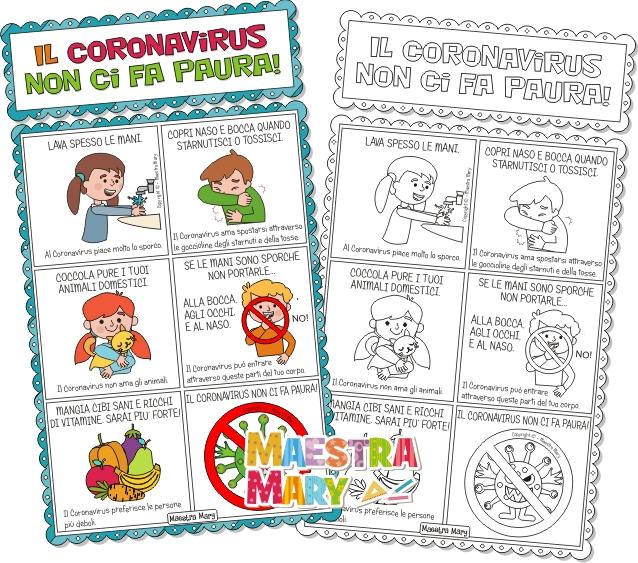 coronavirus cartello regole