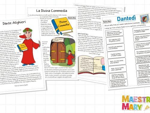Dante Alighieri schede didattiche