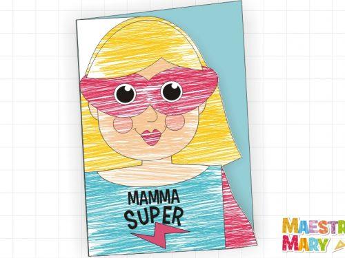 Biglietto da colorare per la Festa della Mamma