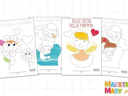 Schede di pregrafismo per la Festa della Mamma