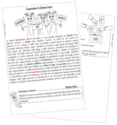 schede didattiche cittadinanza e costituzione