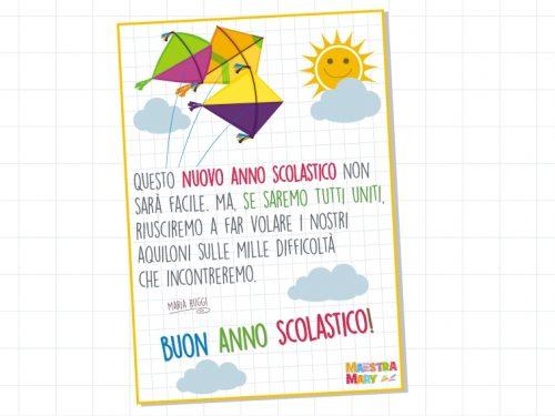 Poster augurale per il nuovo anno scolastico