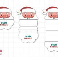 Biglietto con Babbo Natale a fisarmonica