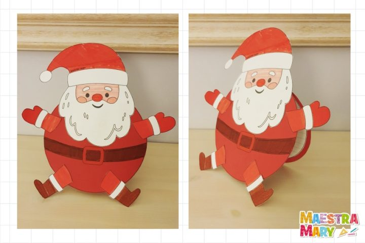 Lavoretti Di Natale Con Babbo Natale.Biglietto Lavoretto Di Babbo Natale Maestra Mary