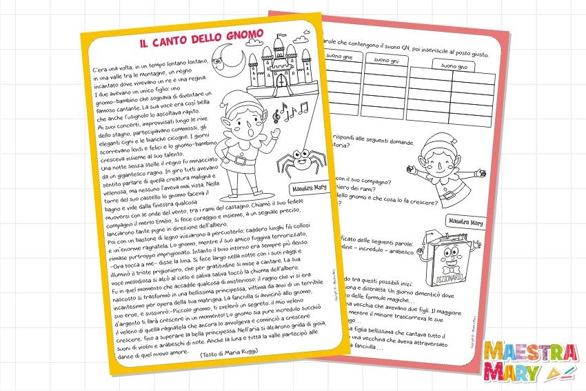 schede didattiche di italiano scuola primaria