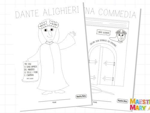 Dante Alighieri schede per bambini