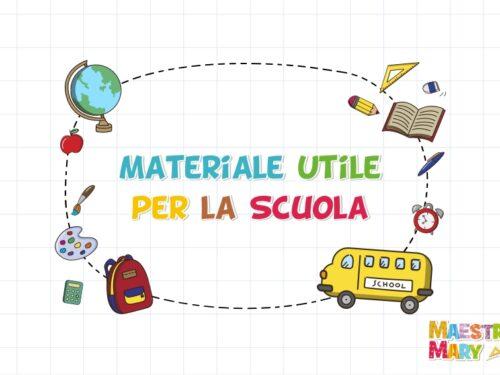Materiale utile per la scuola