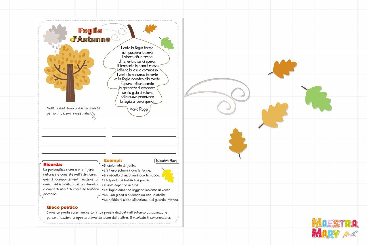schede didattiche italiano autunno
